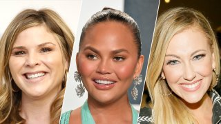 From left to right, Jenna Bush Hager, Chrissy Teigen and Stephanie Hollman.