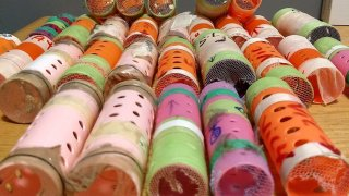 Hair rollers where finches were kept