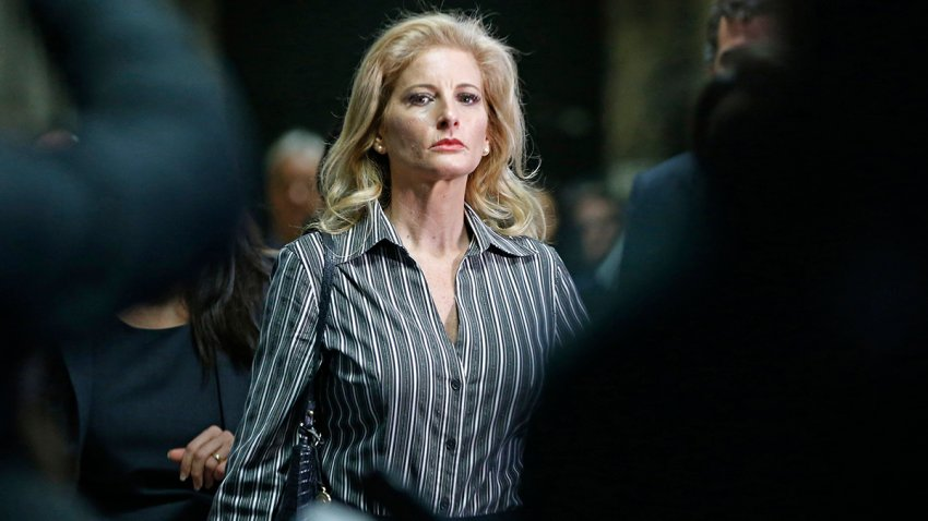 FILE - In this Dec. 5, 2017, file photo, Summer Zervos leaves Manhattan Supreme Court at the conclusion of a hearing in New York.