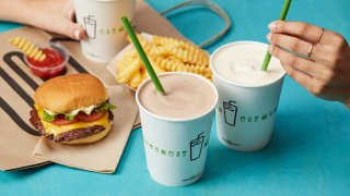 Shake Shack burgers fries and drinks