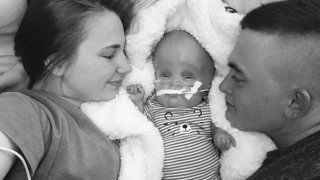 Wyatt Benton and his parents