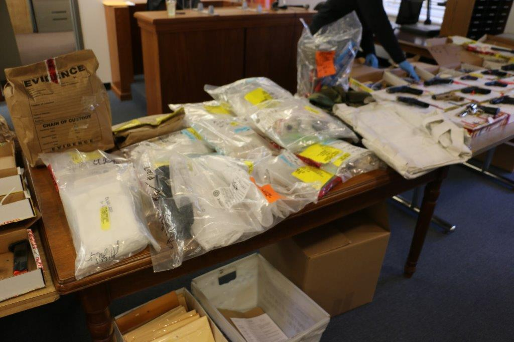 Evidence collected from an 18-month investigation in Nassau County into a large-scale drug trafficking ring