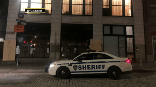 New York City sheriff deputies break up a second illicit party in violation of COVID-19 safety regulations at a Tribeca building.