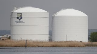 A general view of the Williams Gas Pipeline Transco tanks seen along the Hackensack River