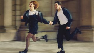 """Jessie Buckley, left, and Josh O'Connor in a scene from Great Performances' """"Romeo & Juliet,"""""""