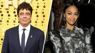 Benicio del Toro (left) and Zoe Saldana (right)