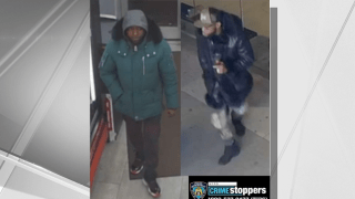 Police released a surveillance image of two men suspected of slashing a 53-year-old man in Greenwich Village last week.