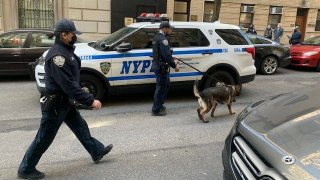 Police on the Upper East Side investigate reports of a suspicious package.