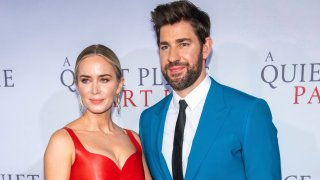 """In this March 8, 2020, file photo, Emily Blunt and John Krasinski attend the world premiere of Paramount Pictures' """"A Quiet Place Part II"""" at Jazz at Lincoln Center's Frederick P. Rose Hall in New York."""