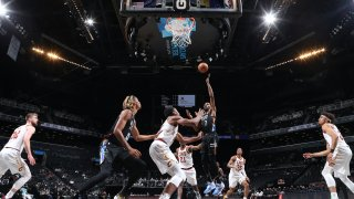 Kevin Durant #7 of the Brooklyn Nets drives to the basket during the game against the Cleveland Cavaliers on May 16, 2021 at Barclays Center