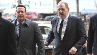 Harvey Weinstein with lawyer Jose Baez