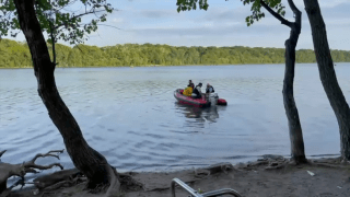 Search teams recovered a 39-year-old man who drowned in a Hempstead lake.