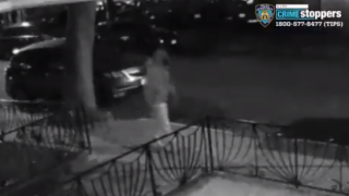 Ali Alaheri, seen here in surveillance video, has been charged for allegedly setting fire to a yeshiva and synagogue in Brooklyn.
