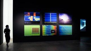 "Laura Poitras's exhibition ""Circles."""