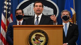 Department Of Justice Holds News Conference On National Security