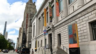 An exterior view of the New-York Historical Society museum and library.