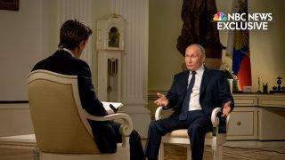 Keir Simmons interviews President Putin