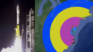NASA's morning rocket launch out of Virginia will be visible across much of the East Coast.