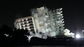 Champlain Towers South condo building controlled demolition