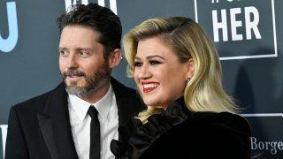 (L-R) Brandon Blackstock and Kelly Clarkson