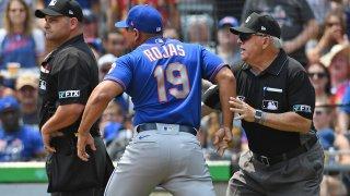 Luis Rojas argues with unpires