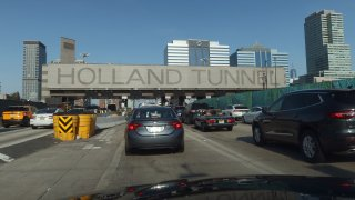 Traffic at Holland Tunnel