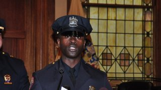 Picture of Police Officer Morton Otundo from his 2013 police academy graduation.