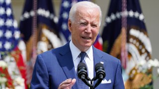 President Joe Biden speaks during an event in the Rose Garden of the White House in Washington, July 26, 2021, to highlight the bipartisan roots of the Americans with Disabilities Act and mark the law's 31st anniversary.
