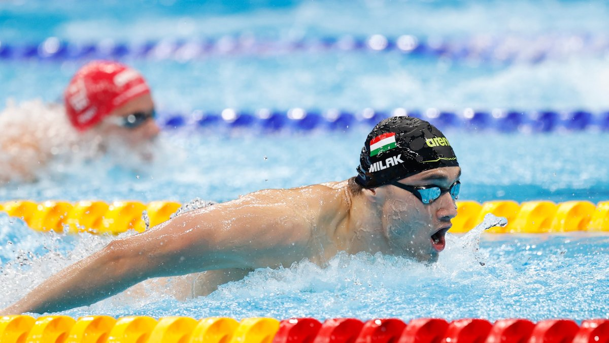 Kristof Milak Breaks Olympic Record for 200m Butterfly Gold