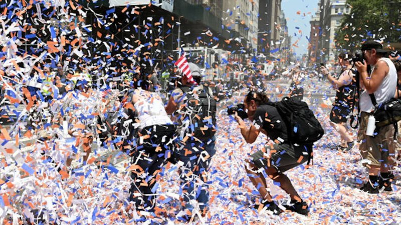 Photo Highlights From NYC 2021 Ticker-Tape Parade