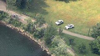 Police at Silver Lake
