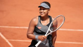 Naomi Osaka competes at the French Open