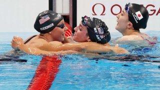 Emma Weyant Hali Flickinger USA Swimming
