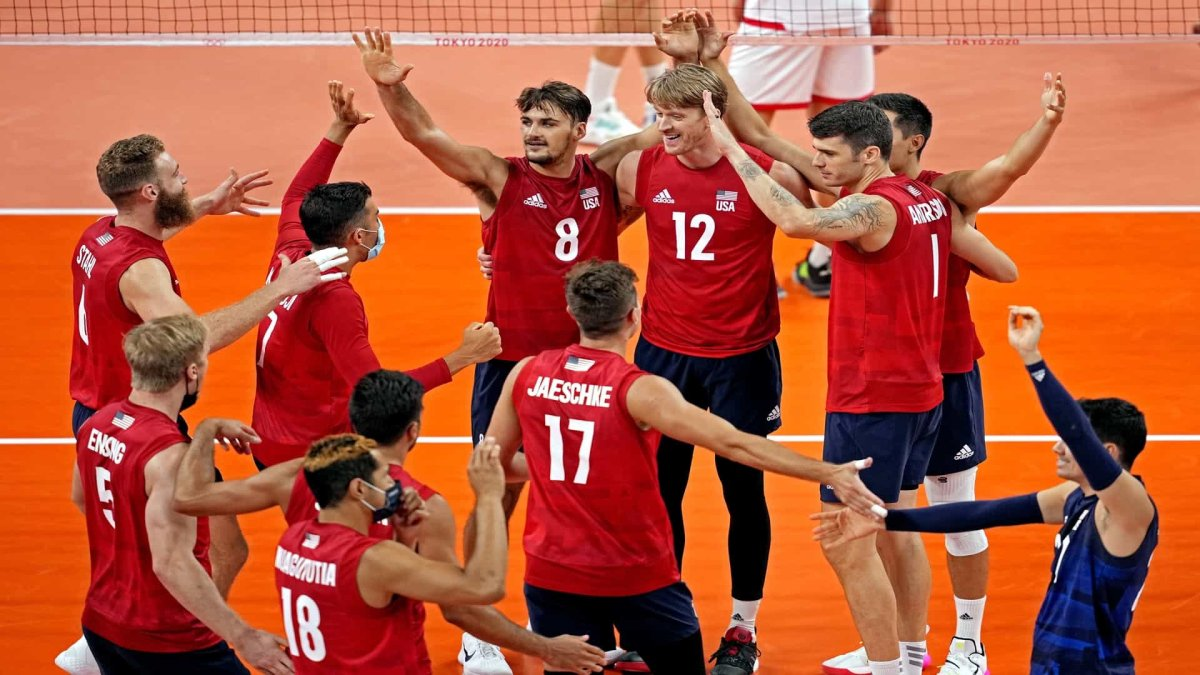 U.S. Men Sharp in Volleyball Rout of Tunisia