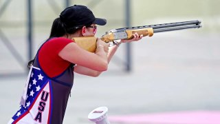 Kayle Browning in women's trap