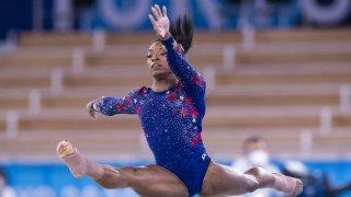 Team USA's Simone Biles out of women's gymnastics team final
