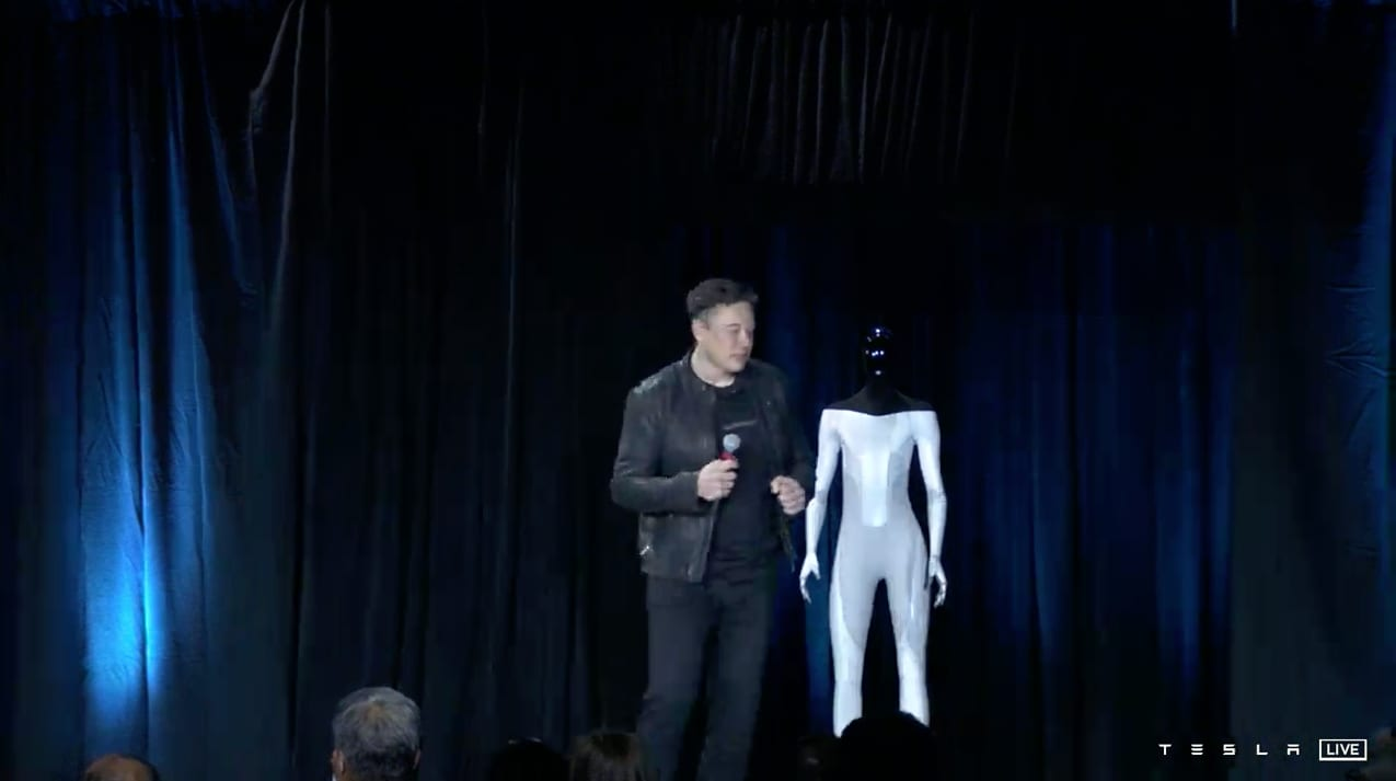 Elon Musk Says Tesla Will Build a Humanoid Robot Prototype by Next Year