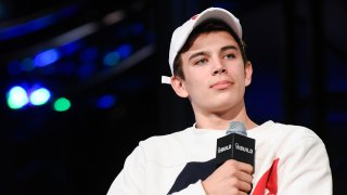 """FILE - Hayes Grier attends The Build Series to discuss his debut novel """"Hollywood Days With Hayes"""" on Nov. 14, 2016, in New York City."""