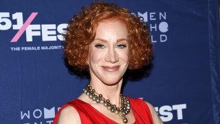 """FILE - Comedian Kathy Griffin attends the 51Fest opening night screening of """"Kathy Griffin: A Hell of a Story"""" at SVA Theatre, July 18, 2019, in New York."""