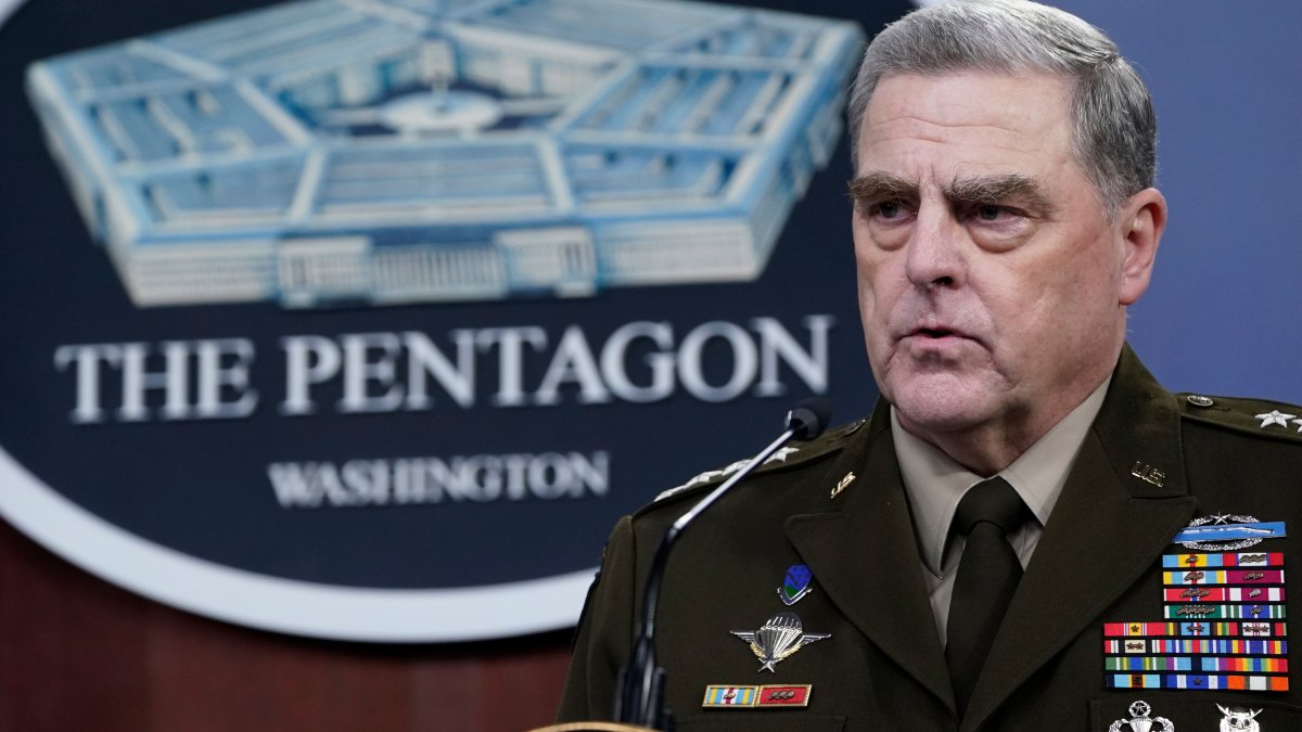 """Gen. Mark Milley Says Phone Calls to China are """"Routine"""""""