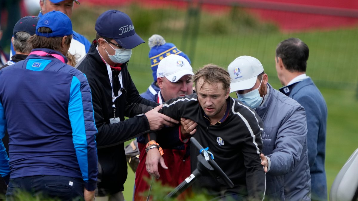 Picture - Tom Felton of 'Harry Potter' Fame Collapses at Ryder Cup