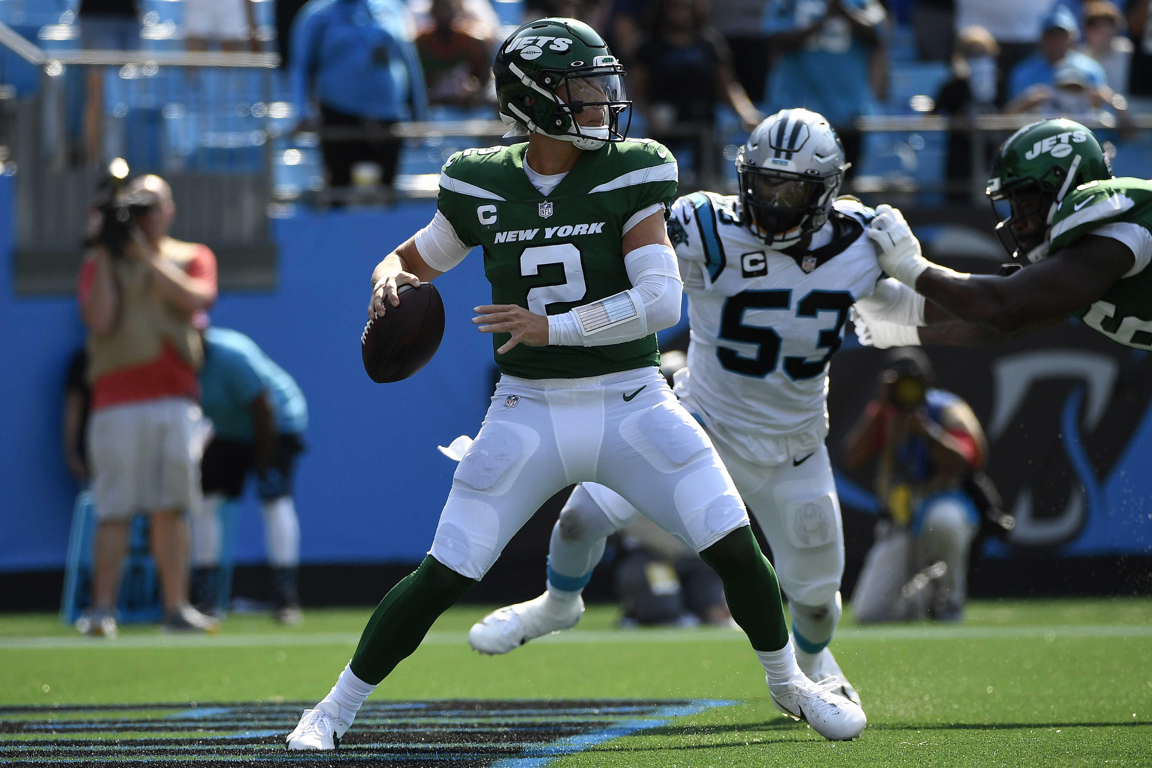 Jets QB Wilson Shows Toughness, 'Moxie' in Loss to Panthers