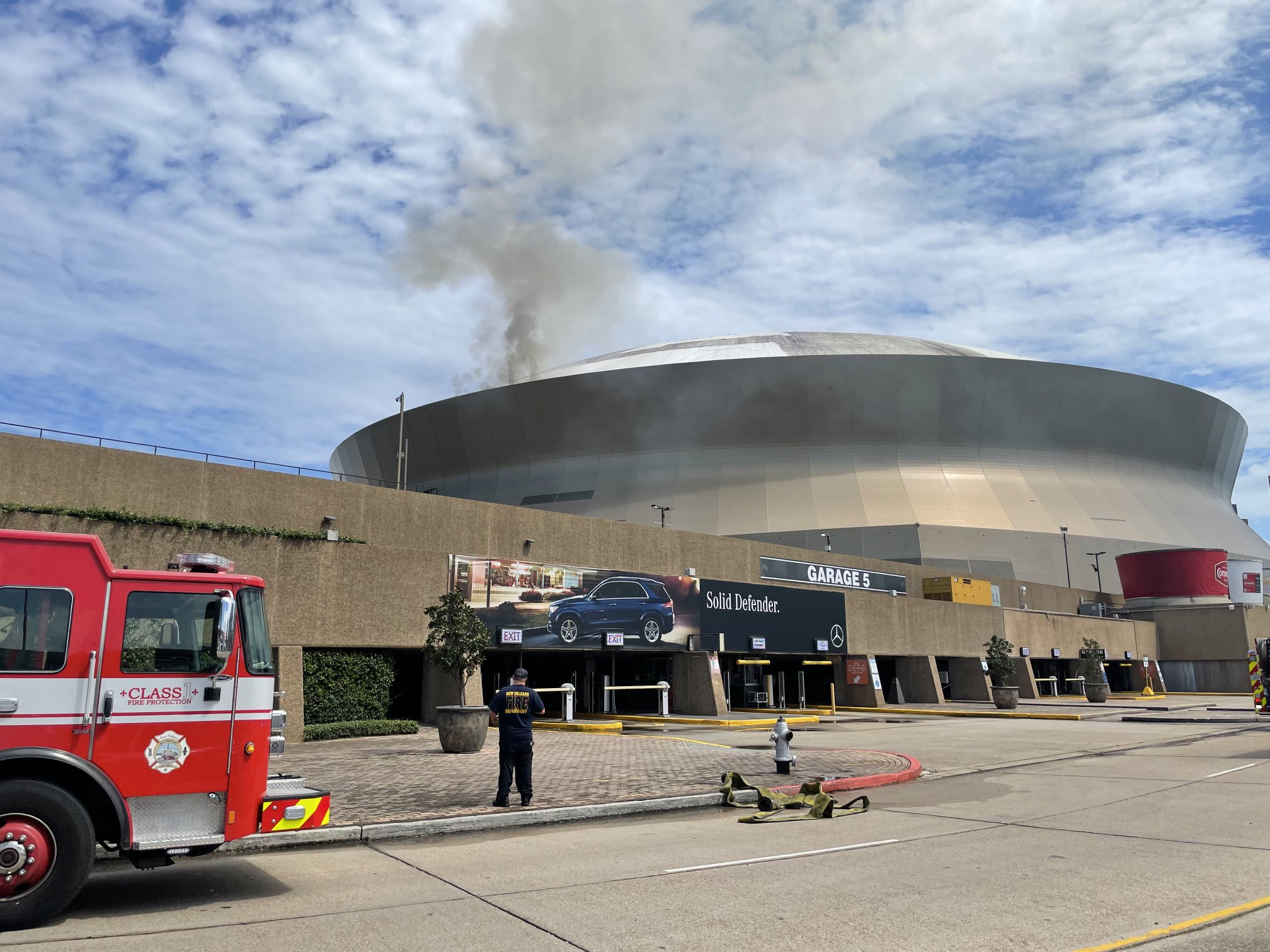 Fire, Smoke Seen on Caesars Superdome Roof Ahead of Saints' Return