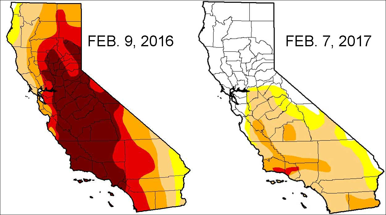 Severe Drought Down To  Percent In California NBC Bay Area - Us weather drought map