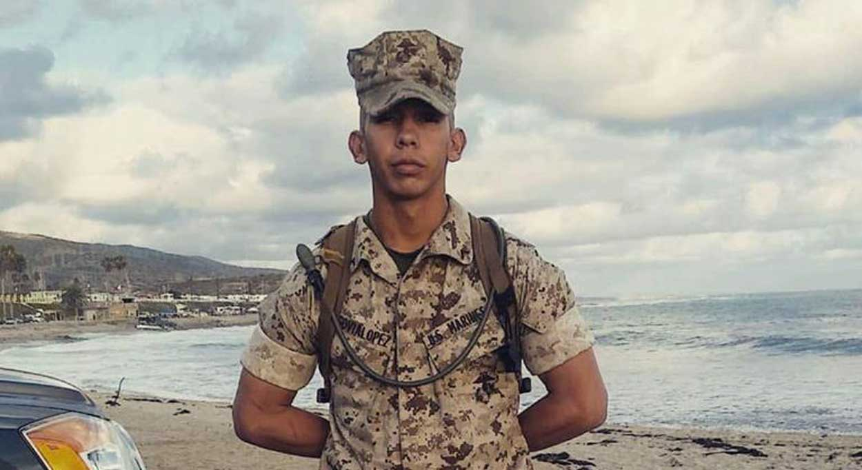 Carlos Segovia, a 19-year-old Marine on weekend leave, was shot in South Los Angeles.