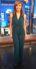 Sara Gore in Vince Camuto jumpsuit