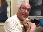 [UGCDFW-CJ-dog days]Jonathan coming to adopt a kitty for the second year in a row!