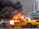 Cab Explodes in Times Square