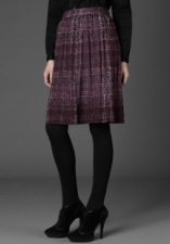 Plum Silk Creponne Skirt @ Burberry