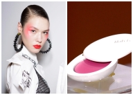 <strong>The Trend: Bright Rosy Blush,</strong>The Lilah B. Divine Duo Lip + Cheek, $46 at Barneys